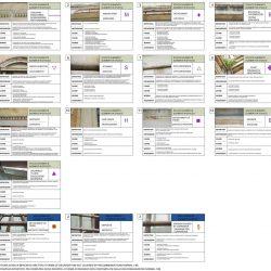 Abaco delle forme di alterazione degli elementi in stucco e in ferro