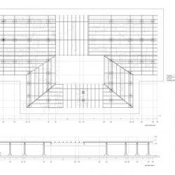 Copertura della Porta Nord Strutturale_pianta orditura e alzati