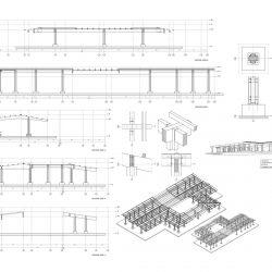 Copertura della Porta Nord Strutturale_sezioni, modello e particolari