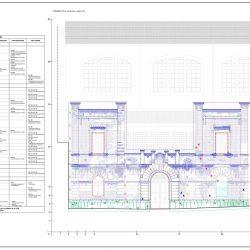 Elaborato grafico relativo al restauro della facciata su via Grazia