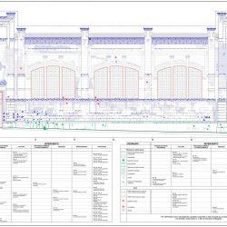 Elaborato grafico relativo al restauro della facciata su via S. G