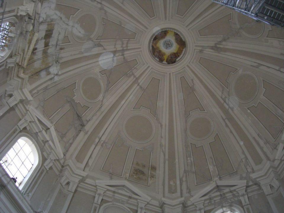 Intradosso della cupola luglio 2010