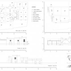 Masseria dell'Ippodromo_piante, prospetti, sezione BB'