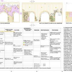 Prospetti del Tratto di VIII di Via del Mandrione_ mappatura degrado-progetto