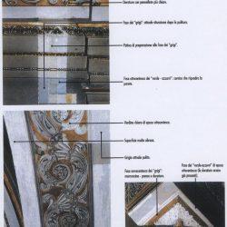 Saggi di pulitura effettuati sulle pareti
