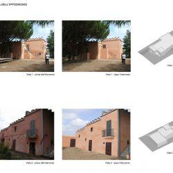 Simulazione intervento di restauro e recupero edilizio con inserimento nel contesto