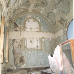 Veduta interna della cappella di S. Rita_ante operam