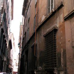 Veduta parziale del prospetto su Via De' Nari_ante operam
