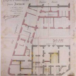 Planimetria del palazzo contiguo_ documentazione di archivio