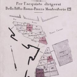 Planimetria schematica dell'isolato_documento d'archivio