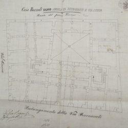 Pianta del piano terra_documento d'archivio