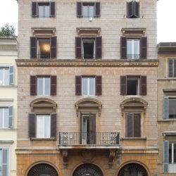 Veduta del prospetto su Piazza Farnese_ante operam