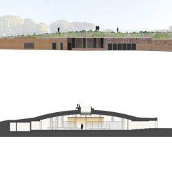 Proposta di progetto_prospetto e sezione del centro servizi