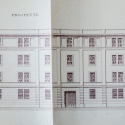 Progetto della facciata - 1933_documento d'archivio