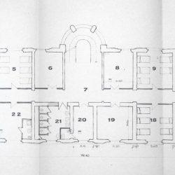 Planimetria del Padiglione 14 -1986_documento d'archivio